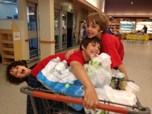 Please don't make me take 3 boys to the supermarket ever again!